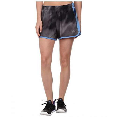 Adidas women ultimate climalite woven running shorts - Black