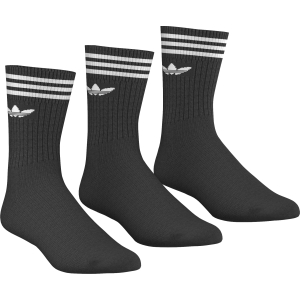SOLID CREW SOCK-BLACK/WHITE