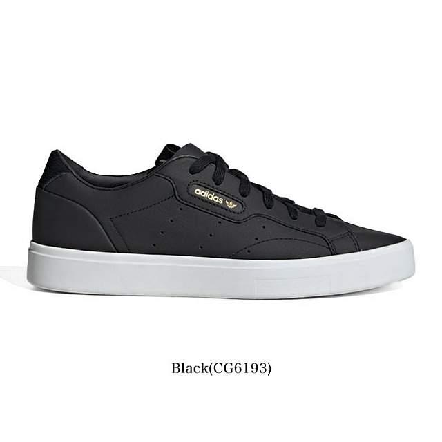Adidas Women Sleek Black White CG6193