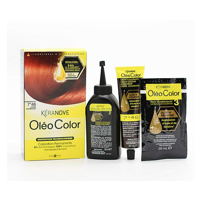 Keranove,  Oleo  07*46 Hair Coloring, Flaming copper...
