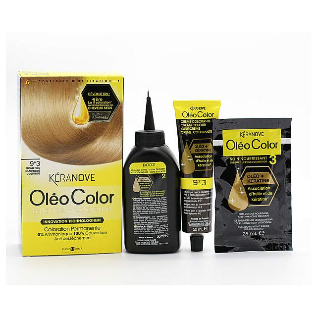 Keranove,  Oleo 09*3 Hair Coloring,Cosmic golden ver...