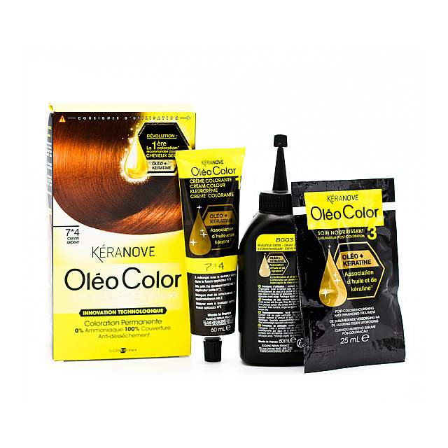 Keranove,  Oleo 07*4 Hair Coloring,Curvre ardent-nou...