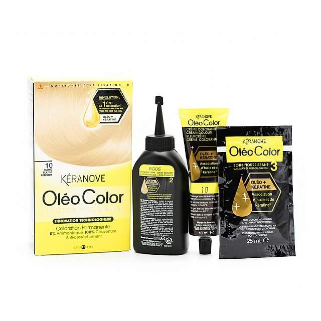 Keranove,  Oleo 10 Hair Coloring, Blond platine prec...