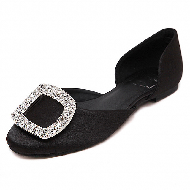 Ballet Flat Shoes-Black