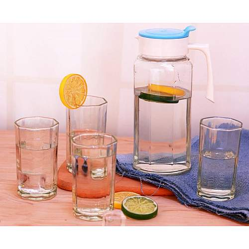 5Pcs Glass Water Bottle