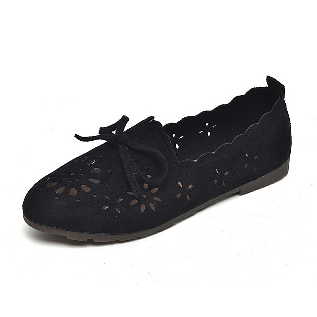 Flat shoes-Black