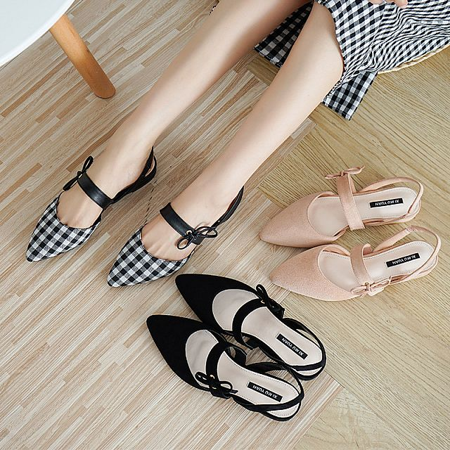 Bow Tie Flat Shoes