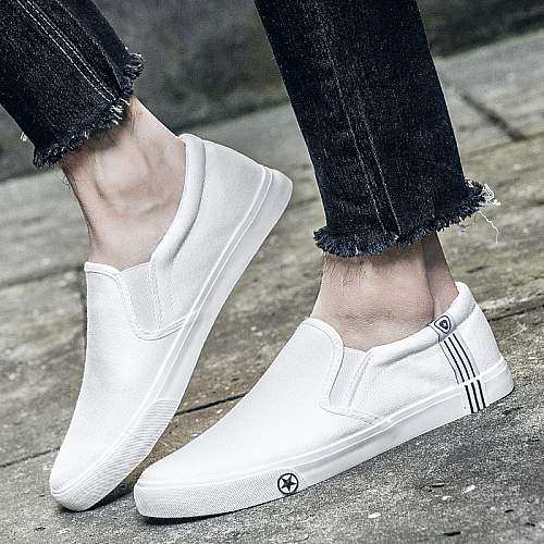 Canvas Sneakers-White