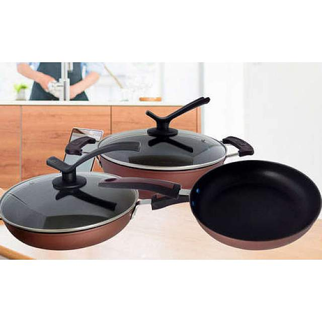 3 Pcs-2 Frying Pan and Pot