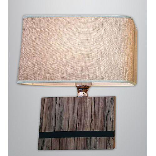 Brown Rectangle Table Lamp