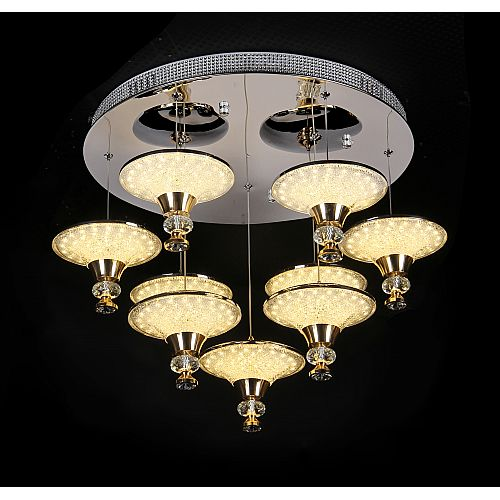 Silver Circle Ceiling Lamp