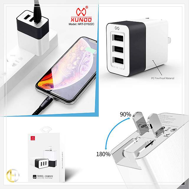 Travel Charger Auto-ID USB XUNDD - NRT-DY022C
