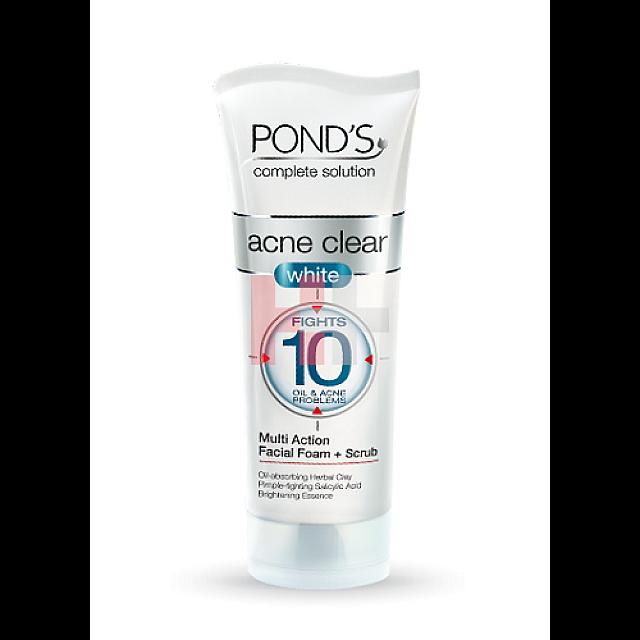 Pond's Acne Clear White Multi Action Facial Foam Plu...