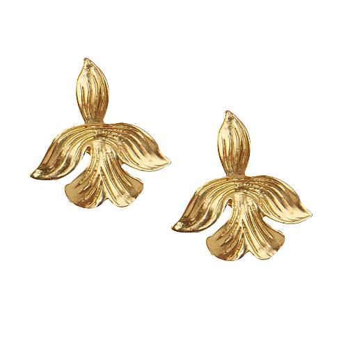 Funky Fish Golden Leaf Studs