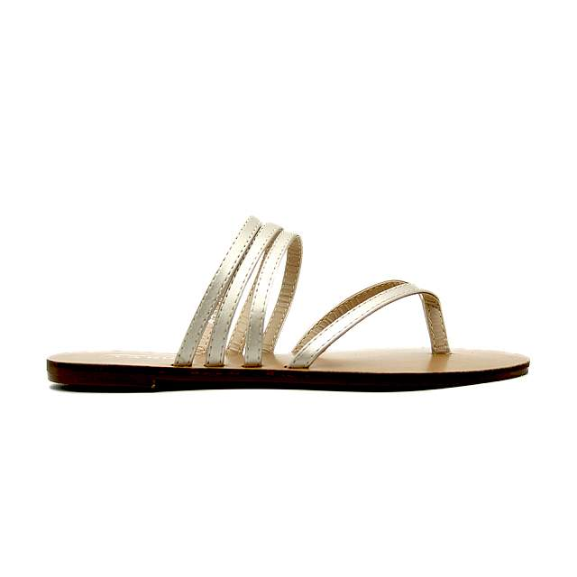 Ladies Strappy Sandals Shoes - Gold