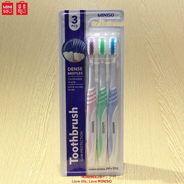 High-density Bristles Toothbrush ( 3 Count )