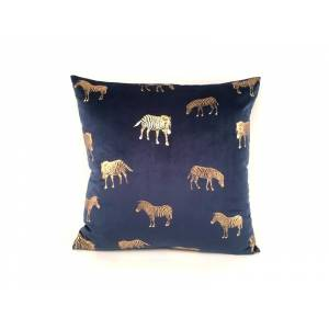 Zebra Cushion(blue)