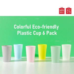 Colorful Eco-friendly Plastic Cup 6 Pack