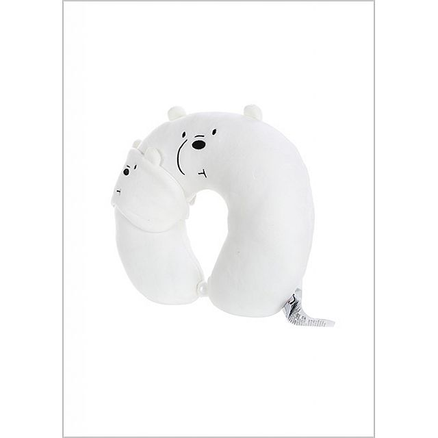 Our Bare Bears Simple Software U-shaped Pillow-White...