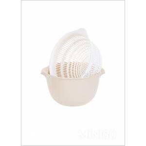 Round Draining Basket (cream)