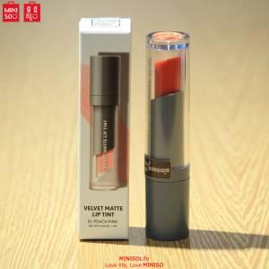 Miniso Velvet Matte Lip Tint(01Peach Pin...