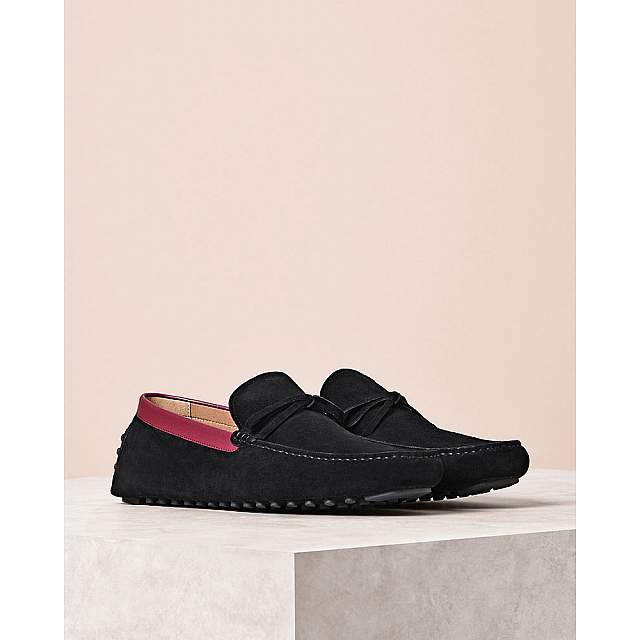 Suede Ribbon Moccasins