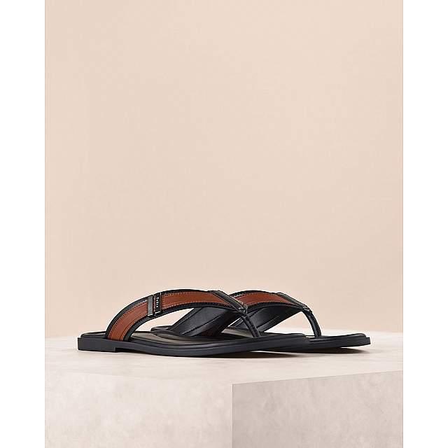 Buckled Colourblock Thong Sandals