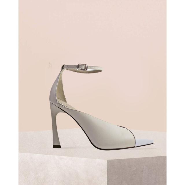 Pointed Toe Ankle Strap Heels