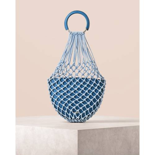 Circular Handle Netted Tote