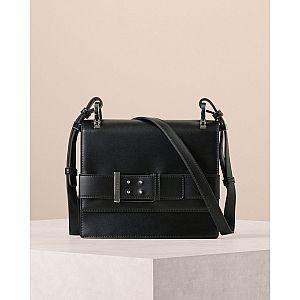 Buckled Leather Shoulder Bag