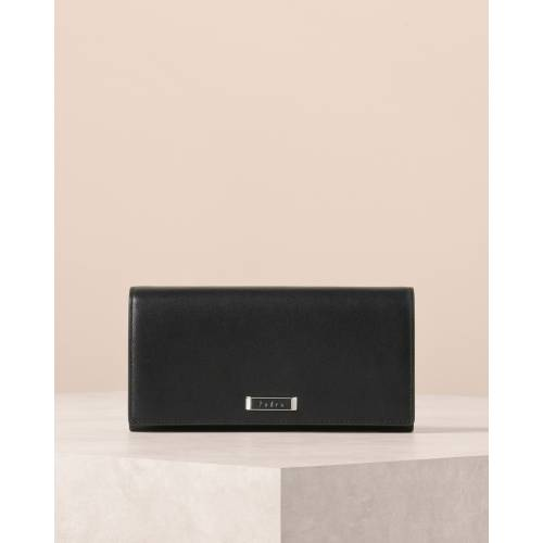 Pearlized Front  Flap Long Wallet