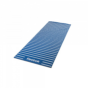 Double Sided 4mm Yoga Mat - Stripes - Blue