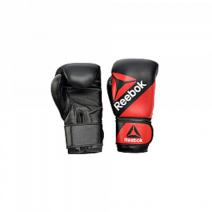 Combat Leather Training Glove - 16oz Red/Black