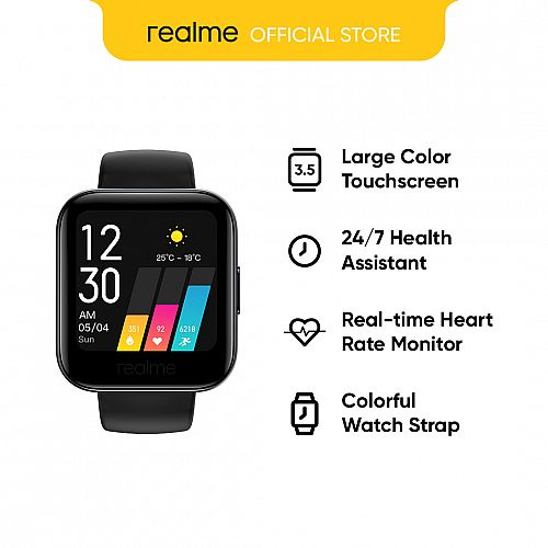 realme watch/large color screen and strong battery life/Supports heart rate and blood oxygen detection/Personalized dial 14 sports modes/Smartwatch band sports compatible with Android
