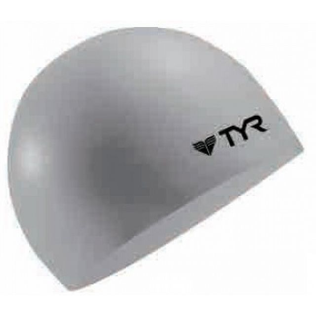 Solid Silicone Cap(Wrinkle Free) - Silver