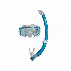 Speed Swift - Junior Snorkel Set - Aqua/White