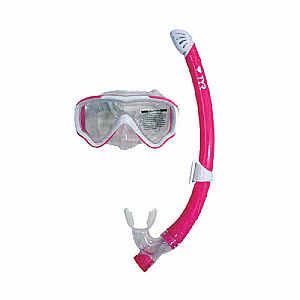 Speed Swift - Junior Snorkel Set - White/Pink