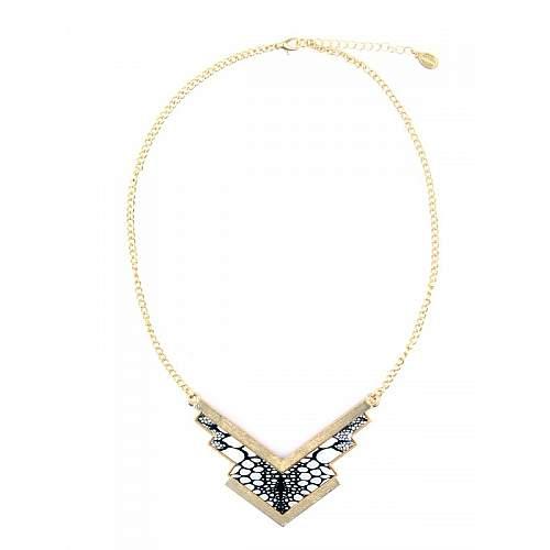 Funky Fish Arrow Print Pendant Necklace