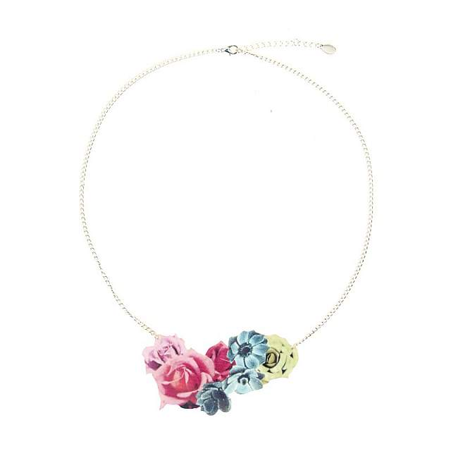 Funky Fish Flowers Pendant Necklace