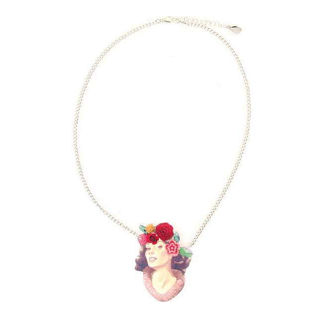 Funky Fish Hawaiian Girl Pendant Necklace